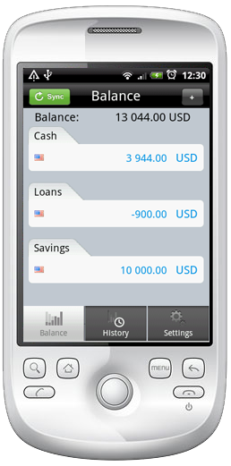 Homemoney Android Screen2