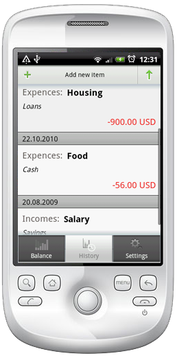 Homemoney Android Screen3